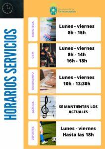 Nuevo Horarios Servicios Municipales – Covid-19