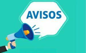 BANDOS INFORMATIVOS – AVISOS – COMUNICADOS