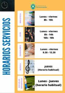 HORARIOS EXCEPCIONALES COVID19