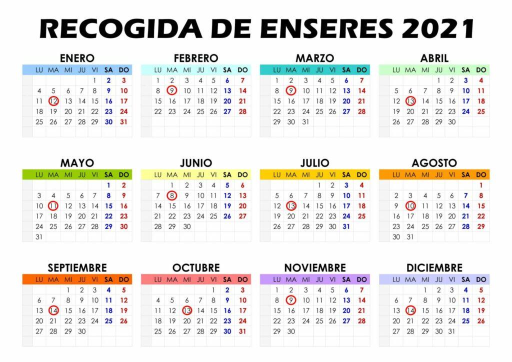 CALENDARIO DE ENSERES