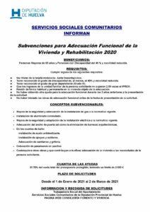 SUBVENCIONES PARA ADECUACIÓN FUNCIONAL DE LA VIVIENDA Y REHABILITACIÓN