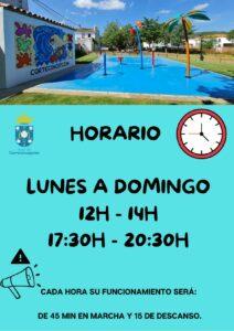 INAUGURACIÓN Y HORARIO PARQUE DE AGUA