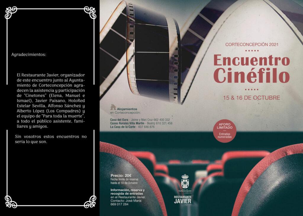 ENCUENTRO CINÉFILO - 15 Y 16 DE OCTUBRE